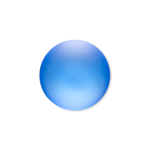 Cabochon, Lunasoft, Aluminum Lucite®, Matte Blueberry, 24mm Non-calibrated Round. Sold Individually 13194 24MM BLUEBERRY