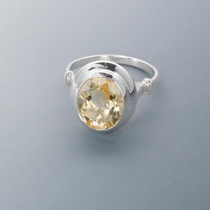 Finger Rings Citrine Yellows