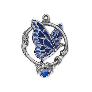 Charms Enameled Metals Blues