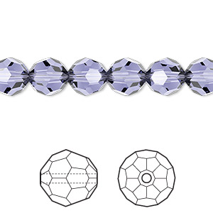 Bead, Swarovski® Crystals, Crystal Passions®, Provence Lavender, 8mm Faceted Round (5000). Sold Per Pkg 144 (1 Gross) 5000