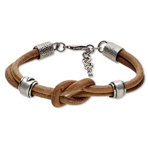 Other Bracelet Styles Leather Silver Colored