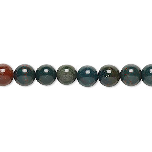 Beads Grade B Indian Bloodstone