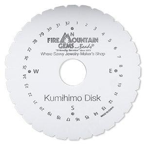 Kumihimo Disk Eva Foam White And Black 4 1 4 Inch Round