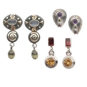 Earring Assortments Mixed Gemstones Multi-colored