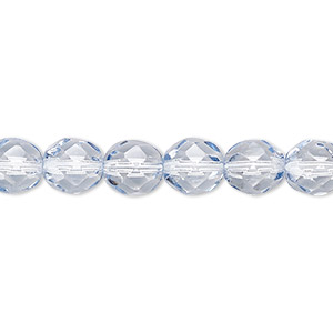 15 8 mm Czech Glass Round Beads Crystal//Silver