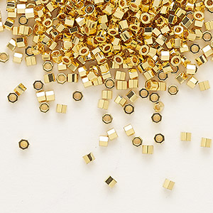 Seed Beads Glass Gold Colored