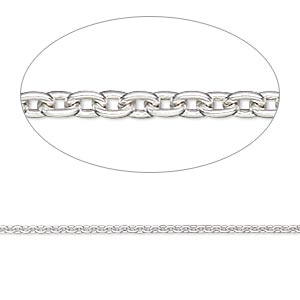 Chain, Sterling Silver-filled, 1.4mm Cable. Sold Per 50-foot Spool