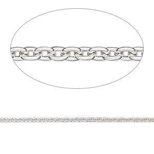 Chain, Sterling Silver-filled, 1.7mm Cable. Sold Per 50-foot Spool