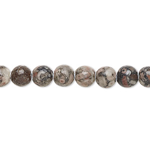 Beads Grade B Fossil Agate
