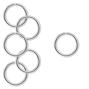 Open Jump Rings Sterling Silver Silver Colored