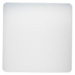 Glue gun pad, silicone, clear, 8-inch square with non-stick