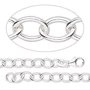 Chain Bracelets Sterling Silver-Filled Silver Colored