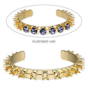 Bracelet Settings Gold Plated/Finished Gold Colored