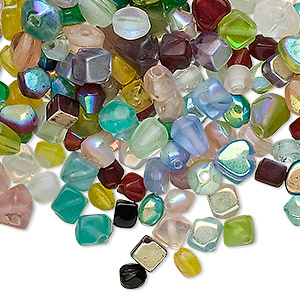 Beads Glass Mixed Colors