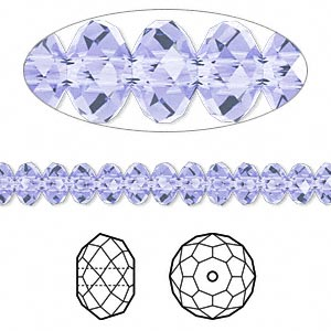 Bead, Swarovski® Crystals, Crystal Passions®, Provence Lavender, 6x4mm Faceted Rondelle (5040). Sold Per Pkg 12 5040