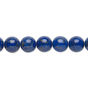 Bead, Lapis Lazuli (natural), 8mm Round, B Grade, Mohs Hardness 5 6. Sold Per 16-inch Strand 3750GS