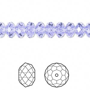 Bead, Swarovski® Crystals, Crystal Passions®, Provence Lavender, 8x6mm Faceted Rondelle (5040). Sold Per Pkg 12 5040
