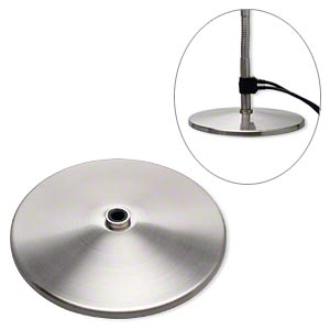 Lamp Base, Daylight™, Stainless Steel, 9 Inch Brushed Round. Sold  Individually.