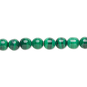 Bead, Malachite (natural), 6mm Round, B Grade, Mohs Hardness 3-1/2 4. Sold Per 16-inch Strand 3772GS