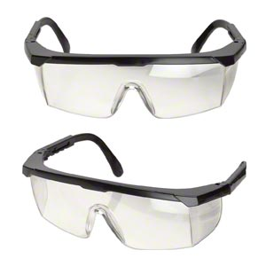 Safety Glasses, Polycarbonate Nylon, Clear Black, Anti-fog Scratch-resistant. Sold Individually