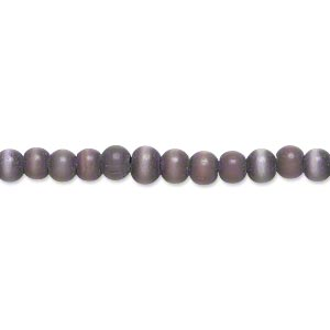Beads Cat's Eye Glass Purples / Lavenders