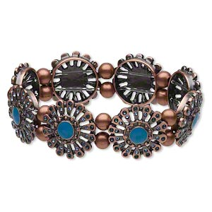 Stretch Bracelets Copper Colored Everyday Jewelry
