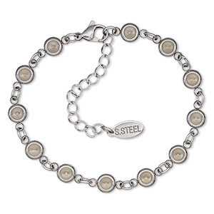 Bracelet Settings Stainless Steel Silver Colored
