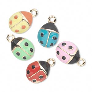 Charms Enameled Metals Mixed Colors