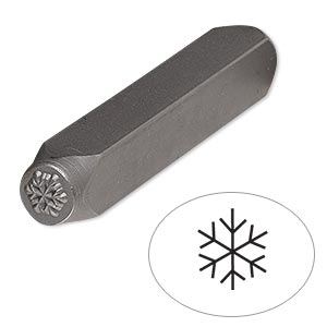 punch Metal stamp snowflake 6mm snow flake