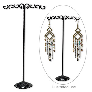 Earring Displays Steel Blacks