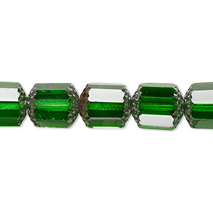 Bead, Czech Glass, Emerald Green Metallic Emerald Green, 10mm Round Cathedral. Sold Per 16-inch Strand 152-19105-00-10mm-50120-91436