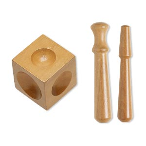 Dapping Block Wood 2 Punches