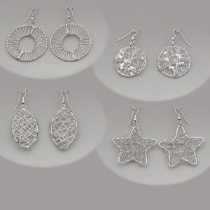 Earring Assortments Silver Plated/Finished Silver Colored