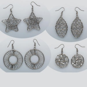 Earring Assortments Gunmetal Greys