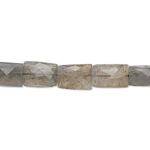 Bead, Labradorite (natural), 9x6mm-12x8mm Hand-cut Flat Rectangle, B- Grade, Mohs Hardness 6 6-1/2. Sold Per 14-inch Strand