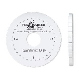 Kumihimo Disks and Plates Whites H20-4052TL