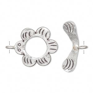 Toggle Fine Silver Silver Colored