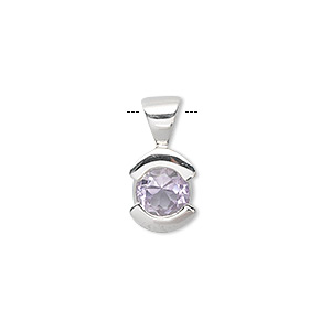 Pendants Amethyst Silver Colored