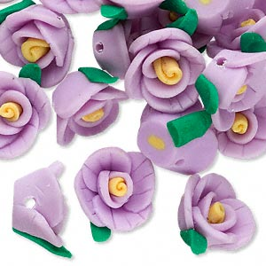 Beads Polymer Clay Purples / Lavenders