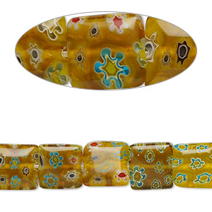 Beads Millefiori Yellows