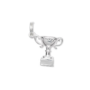 Charm, Sterling Silver, 14x14mm Trophy Cup. Sold Individually