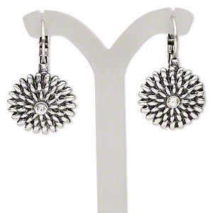 Leverback Earrings Silver Colored Everyday Jewelry