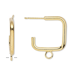 Earstud Components Gold Plated/Finished Gold Colored