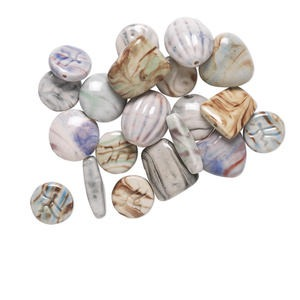 Beads Porcelain / Ceramic Mixed Colors