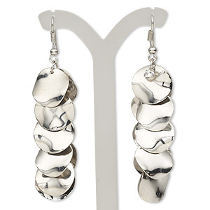 Fishhook Earrings Silver Plated/Finished Silver Colored