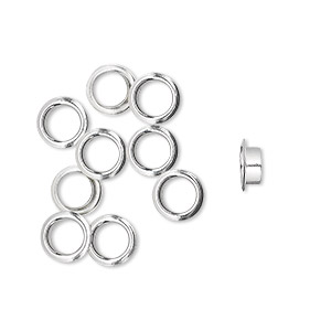 Grommets Sterling Silver Silver Colored