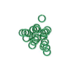 Open Jump Rings Niobium Greens
