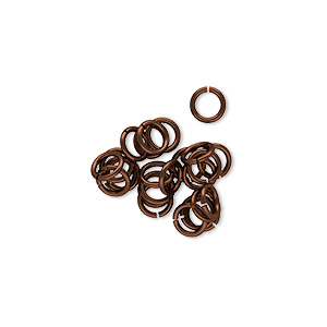 Open Jump Rings Niobium Browns / Tans