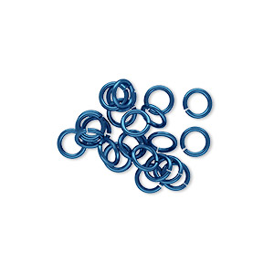 Open Jump Rings Niobium Blues