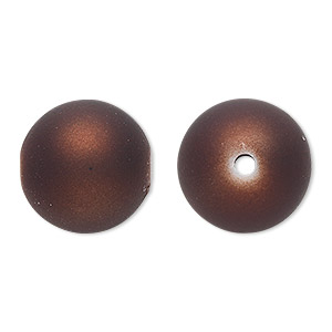 Beads Rubberized Acrylic Browns / Tans